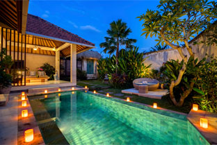 bali villas with private pool | villa cinta at the pandan tree villas